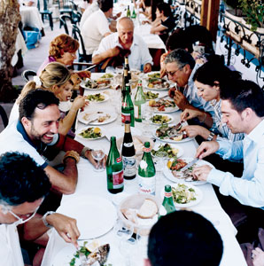Image result for picture of family dining italiaN