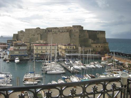 Castel del' Ovo from Hotel Santa Lucia,Naples