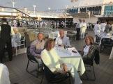 Dinner on deck of Journey